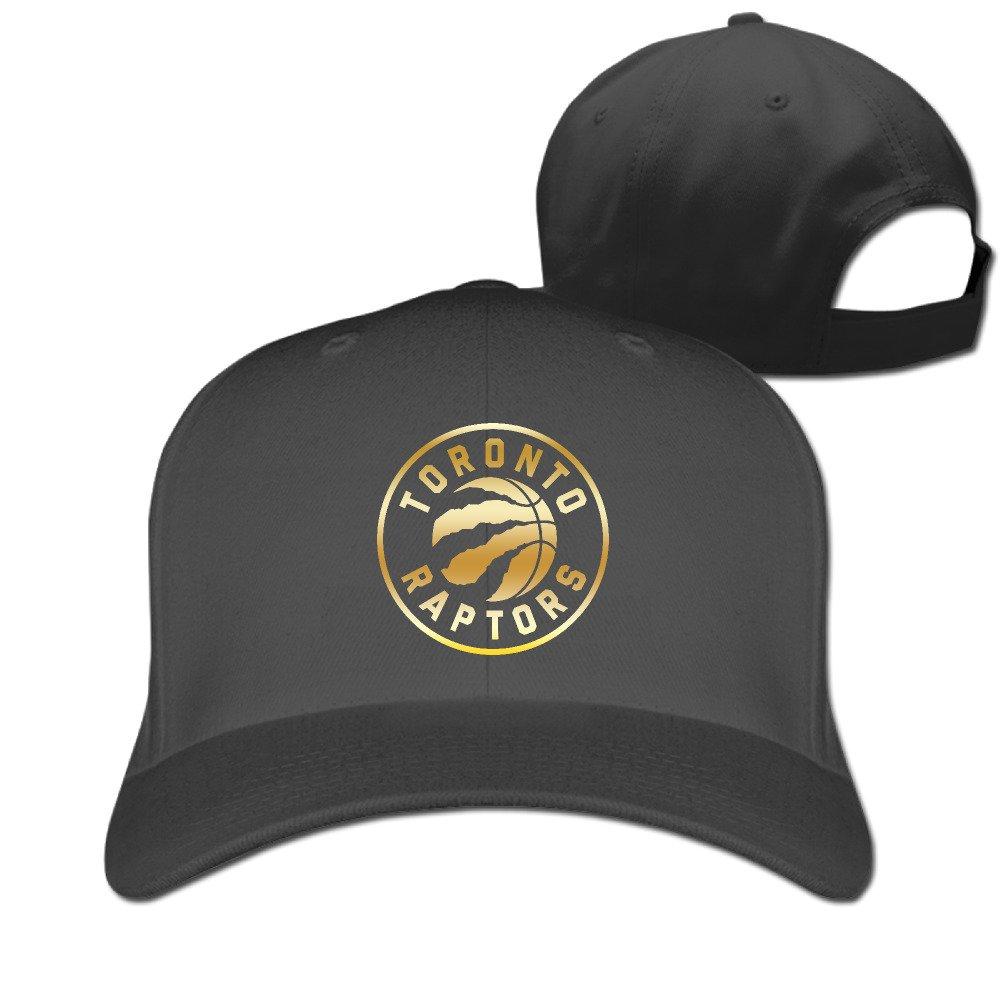 Men's Toronto Raptors Gold Logo Peaked Baseball Cap Black Gassirobe T shirt