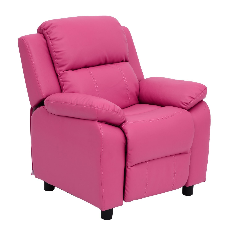 Amazon.com: HomCom Kids PU Leather Sofa Recliner Chair   Rose: Toys U0026 Games