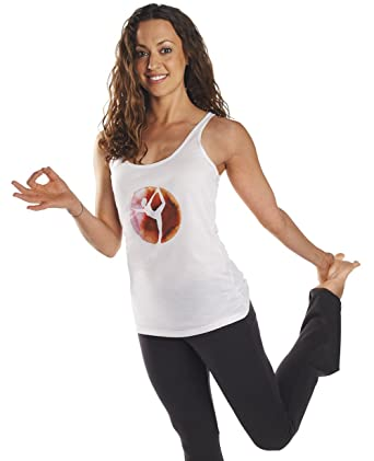 OM Matters Samadhi Yoga Tank White at Amazon Womens ...