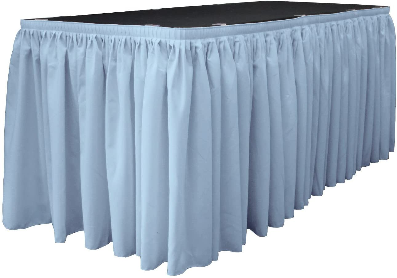 LA Linen Challenge the lowest price of Japan Polyester Poplin Pleated Table with 10 Clip Skirt Large All items free shipping
