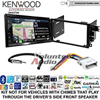 Volunteer Audio Kenwood DNX574S Double Din Radio Install Kit with GPS Navigation Apple CarPlay Android Auto Fits 2002-2003 Chevrolet S10, 2001-2002 Chevrolet Express