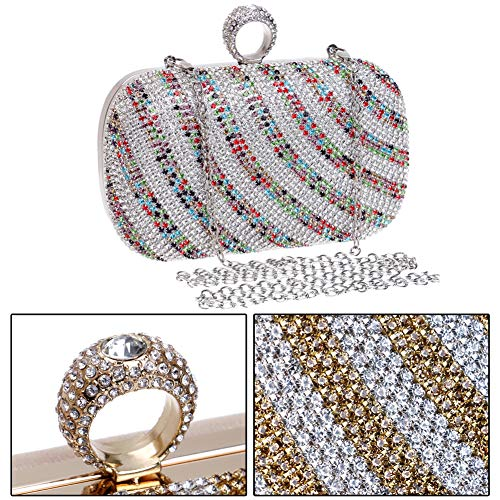 Purse Clutch Wedding Wallet Color Evening Ladies Womens Dress Bead Chain Bags Multi Bags xI4d4SwR