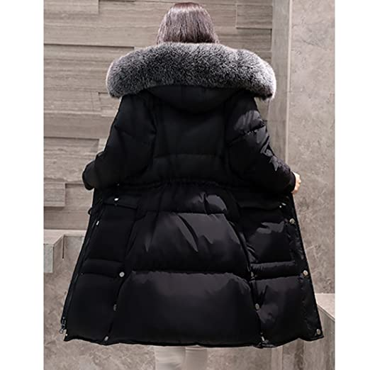 Gwell Femme Blouson Légère Hiver Manteau en Vogue Doudoune Longue Capuche  Fourrure Noir  Amazon.fr  Sports et Loisirs f55cad0d21c2
