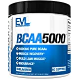 Evlution Nutrition BCAA5000 Powder 5 Grams of Branched Chain Amino Acids (BCAAs) Essential for Performance, Recovery…