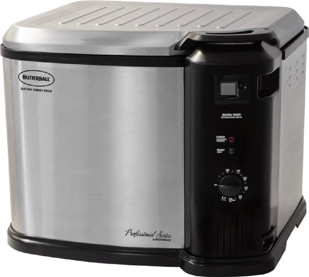 Masterbuilt Butterball XXL Digital Indoor Electric Turkey Fryer (Largest Capacity, Newest Model) (Stainless Steel)