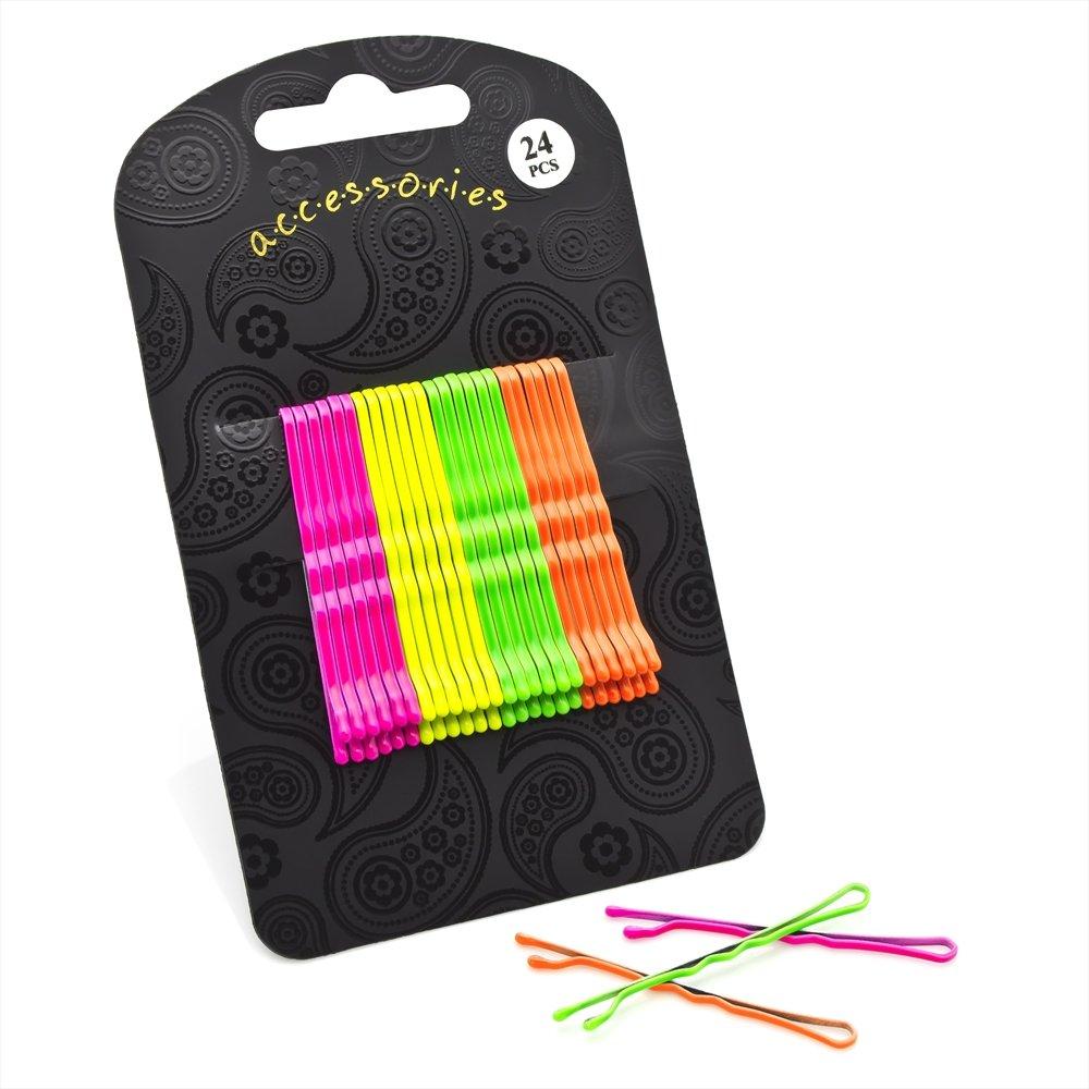 Divadoo Twenty Four Piece Neon Tone Hair Grip Set AJHA28782-HB1