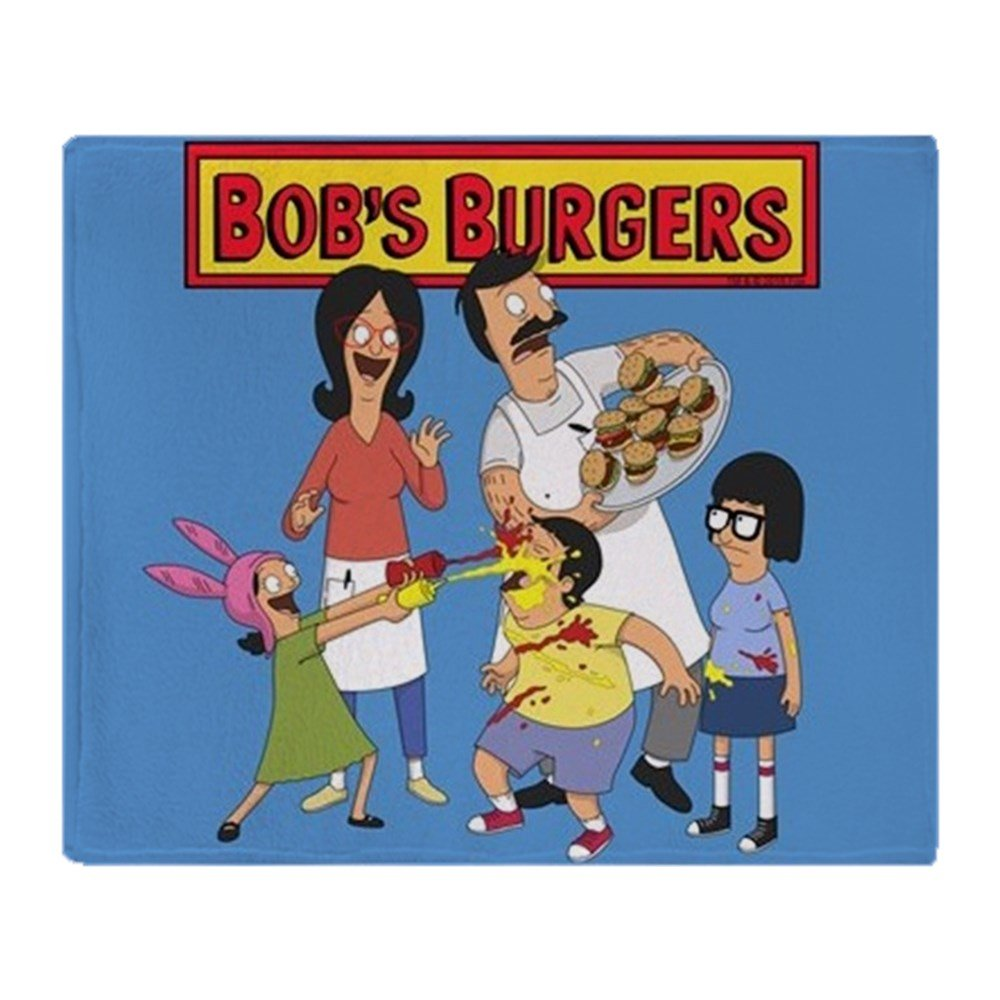 "CafePress Bob's Burgers Family - Soft Fleece Throw Blanket, 50""x60"" Stadium Blanket 80%OFF"