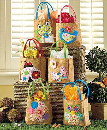 Sets of 6 Embellished Spring Treat Bags (Spring)