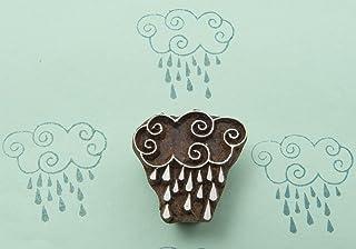 Blockwallah Rainy Day Wooden Block Stamp