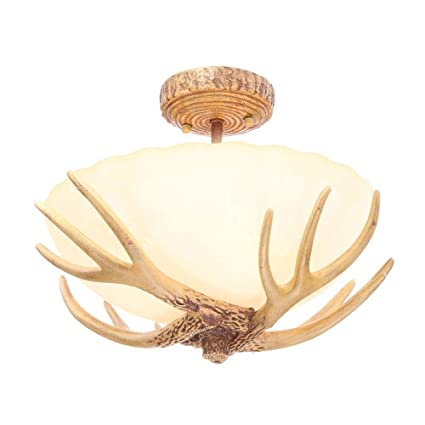Hampton bay 17199 antler 3 light semi flush mount 118x165x16 hampton bay 17199 antler 3 light semi flush mount 118quotx165quotx16 aloadofball Gallery