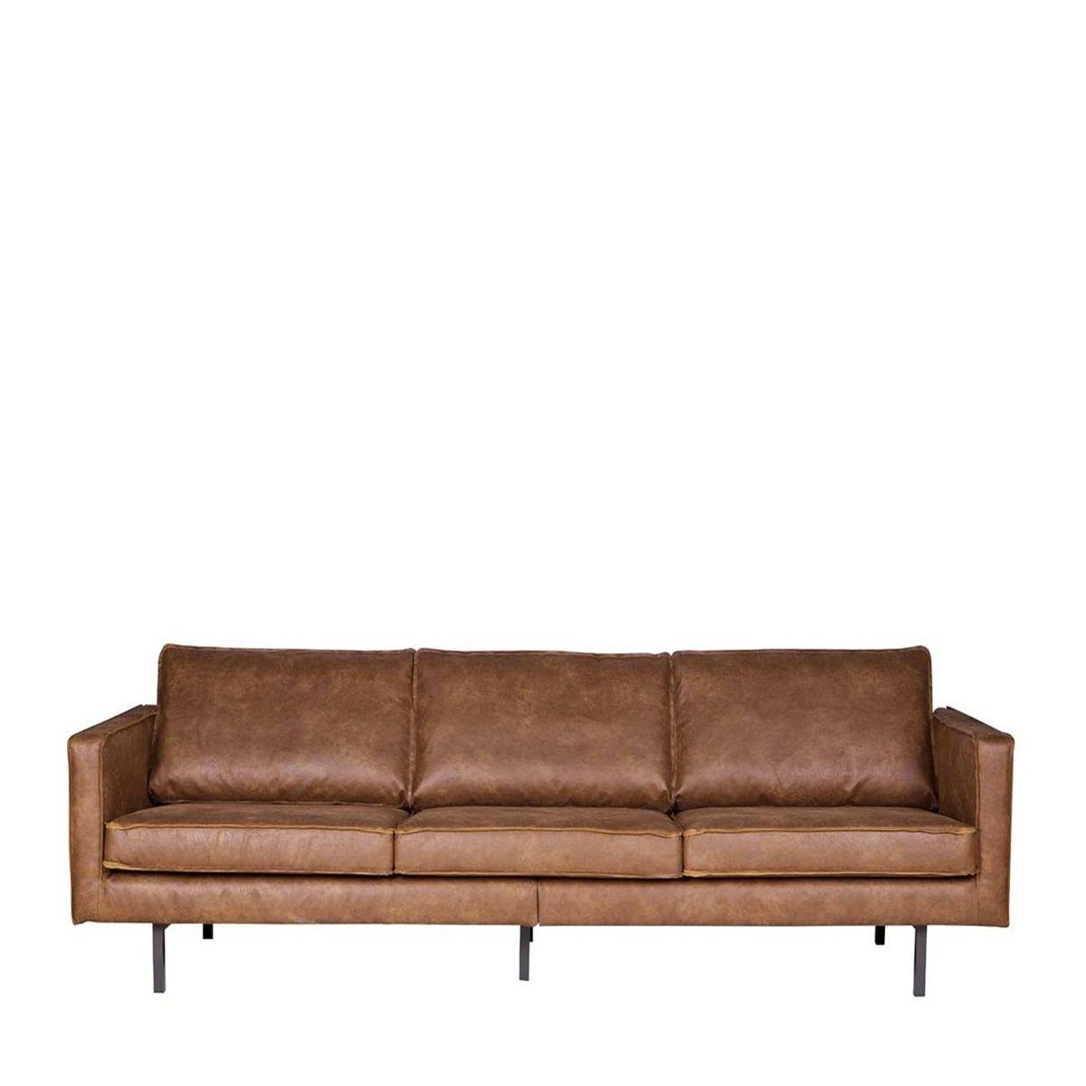 3-Sitzer Einzelsofa Be Pure aus Leder
