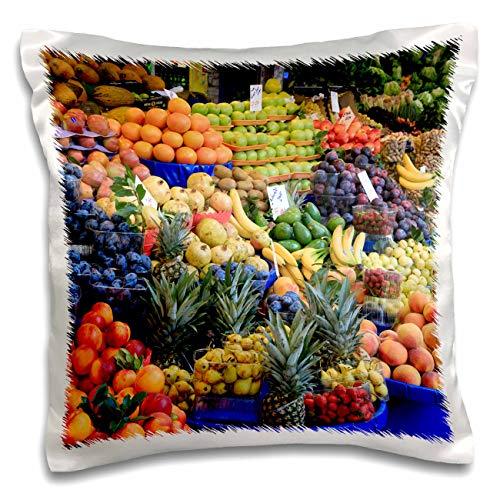 Istanbul Turkey Food - 3dRose Danita Delimont - Food - Turkey, Istanbul. Kadikoy District, street market, fresh fruits. - 16x16 inch Pillow Case (pc_312859_1)