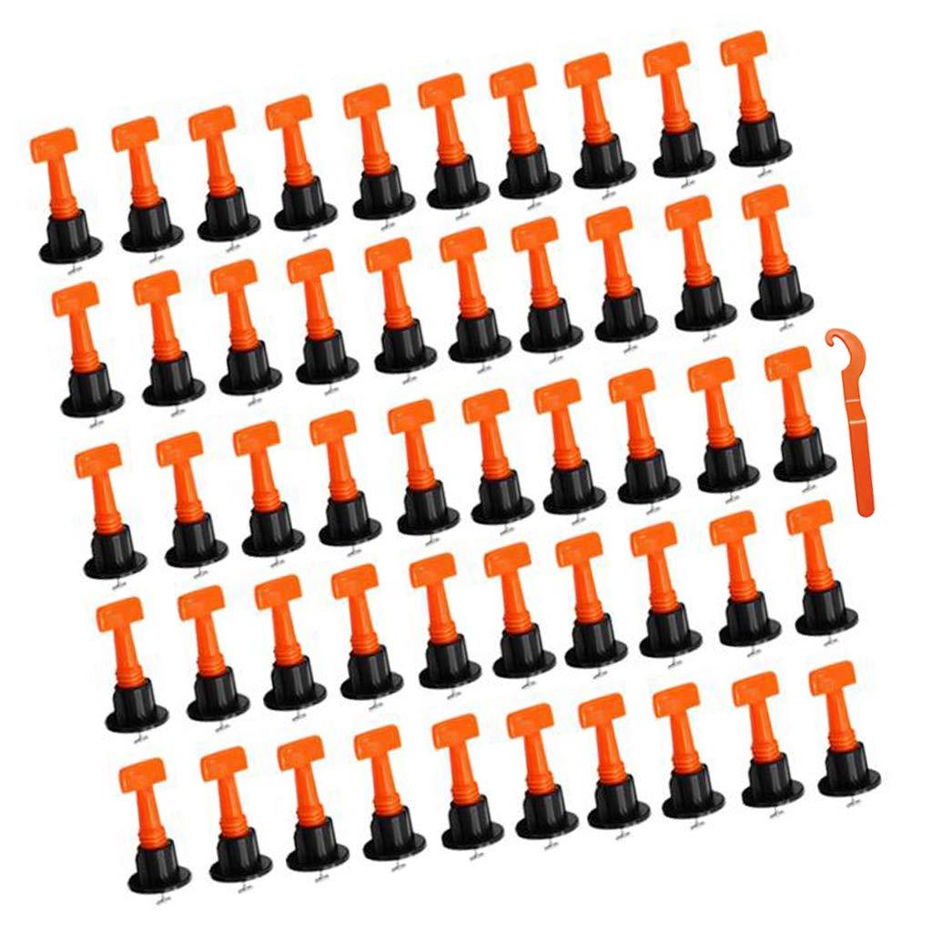 FLAMEER 50pcs Fliesen Nivelliersystem Verlegehilfe 2-6mm