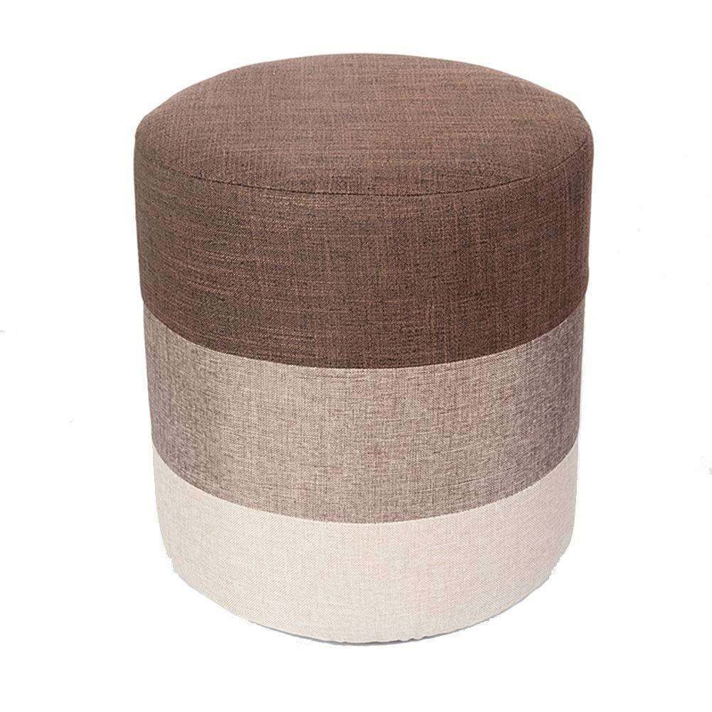 Colore : Gray, Dimensioni : 35 * 31cm Piccolo Sgabello Panchetta Piccola-Panca Moderna in Legno Massello Sfoderabile Lavabile Sfoderabile Panca Moderna LEBAO