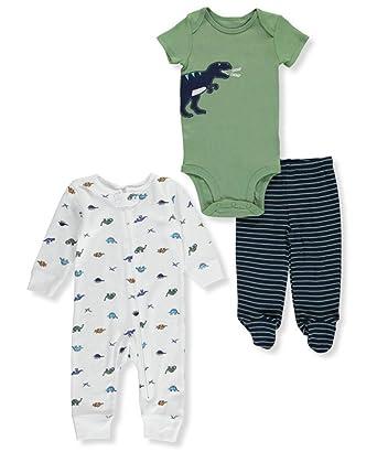 0338d54f1400 Amazon.com  Carter s Baby Boys  3 Piece Dinosaur Set  Clothing