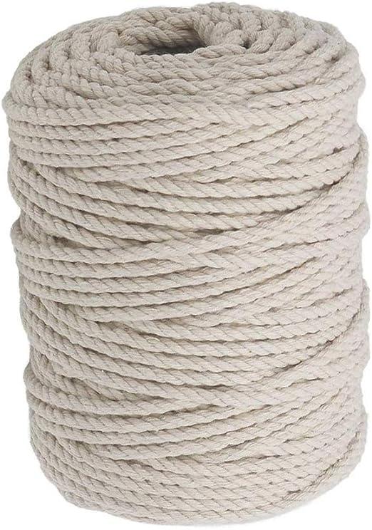 Bocotoer - Cuerda de macramé de algodón de 4 mm para Colgar en la Pared: Amazon.es: Hogar