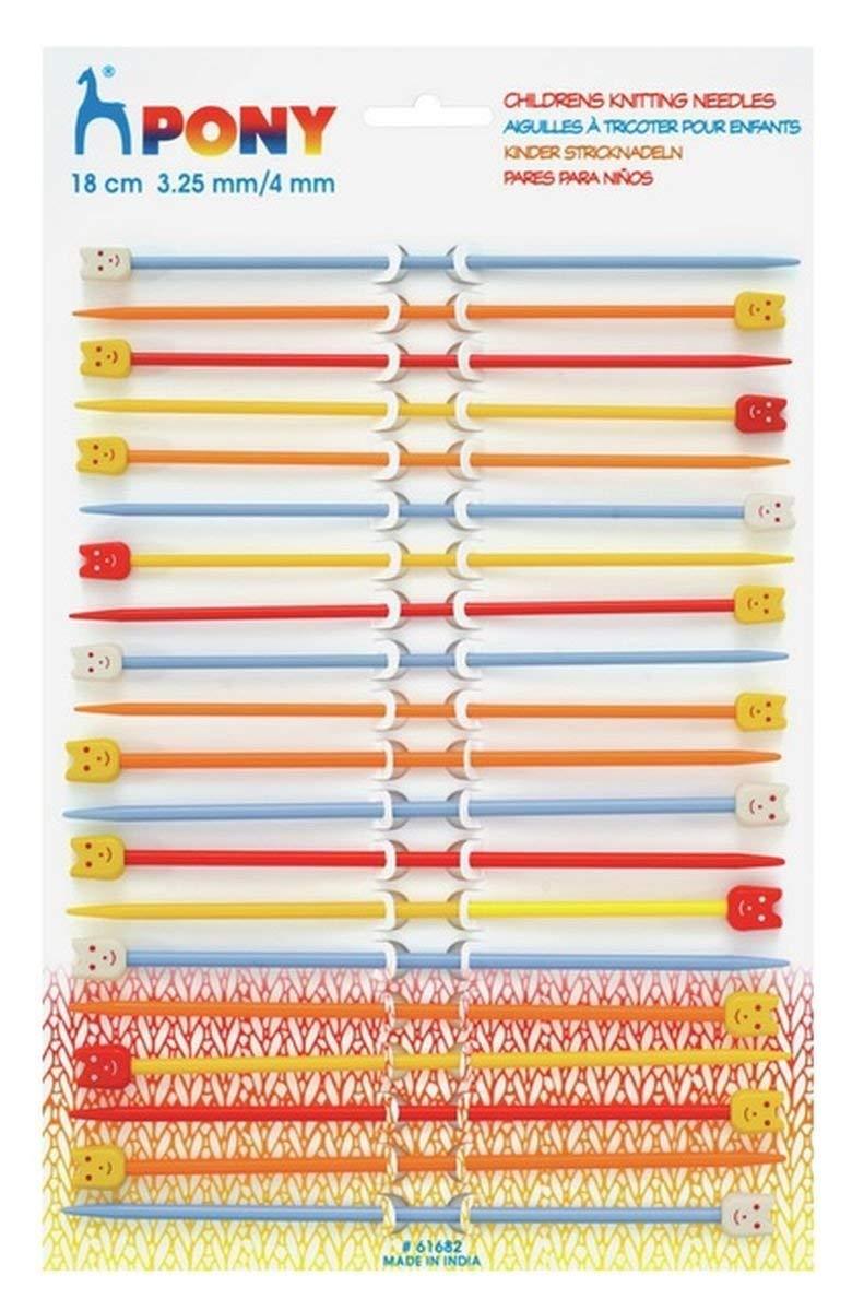 Lot de 10 paires daiguilles /à tricoter pour enfant Tailles vari/ées
