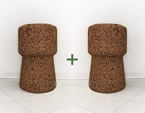 Greencorks collezione beerpouf coppia di sgabelli alti in sughero