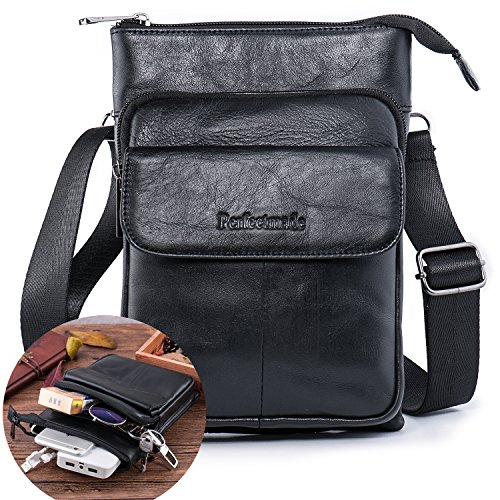 Cross Body Messenger Bag Leather - 4