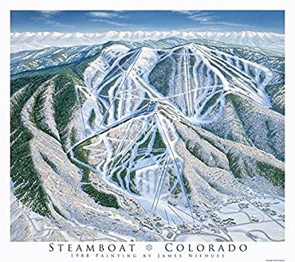 Amazon.com: Imagekind Wall Art Print entitled Steamboat Trail Map ...