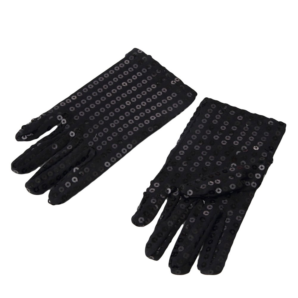 Amazon.com: 1 Pair Michael Jackson Costume Gloves Child Sequin Gloves for Cosplay Party Dance Halloween: Sports & Outdoors