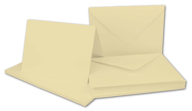 Faltkarten Set mit Brief-Umschlägen DIN A6   C6 in Rosanrot   100 Sets   14,8 x 10,5 cm   Premium Qualität   Serie FarbenFroh® B076578MZ5 | Ausgezeichnet