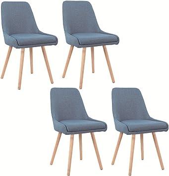 MCTECH® 4er Set Retro Esszimmerstühle Besucher Stuhl Esszimmerstuhl Wohnzimmerstuhl Stuhlgruppe Konferenzstühle Bürostuhl Küchenstuhl Büro Besucher