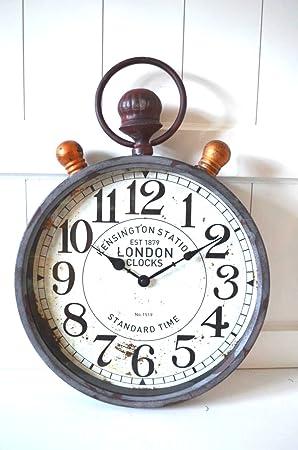 Horloge Murale De Style Metal Gris Big Kensington Horloge London