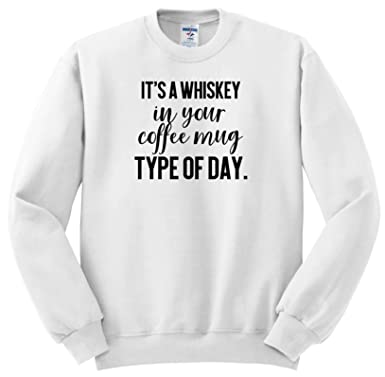 3dRose Lenas Photos T-Shirts Funny Quotes Whiskey in Your Coffee Mug Type of Day