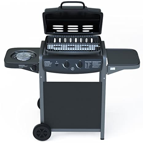 Gas Barbecue with Integrated Digital Thermometer and Burner Side ...