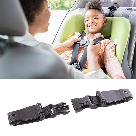 2pcs Autositz Brustgurt Clip Kindersicherheitsgurt Schnalle Gurt Gurt Für Kinder Tragbare Kleinkind Einstellbare Sperre Tite Guard Schwarz Universal Baby