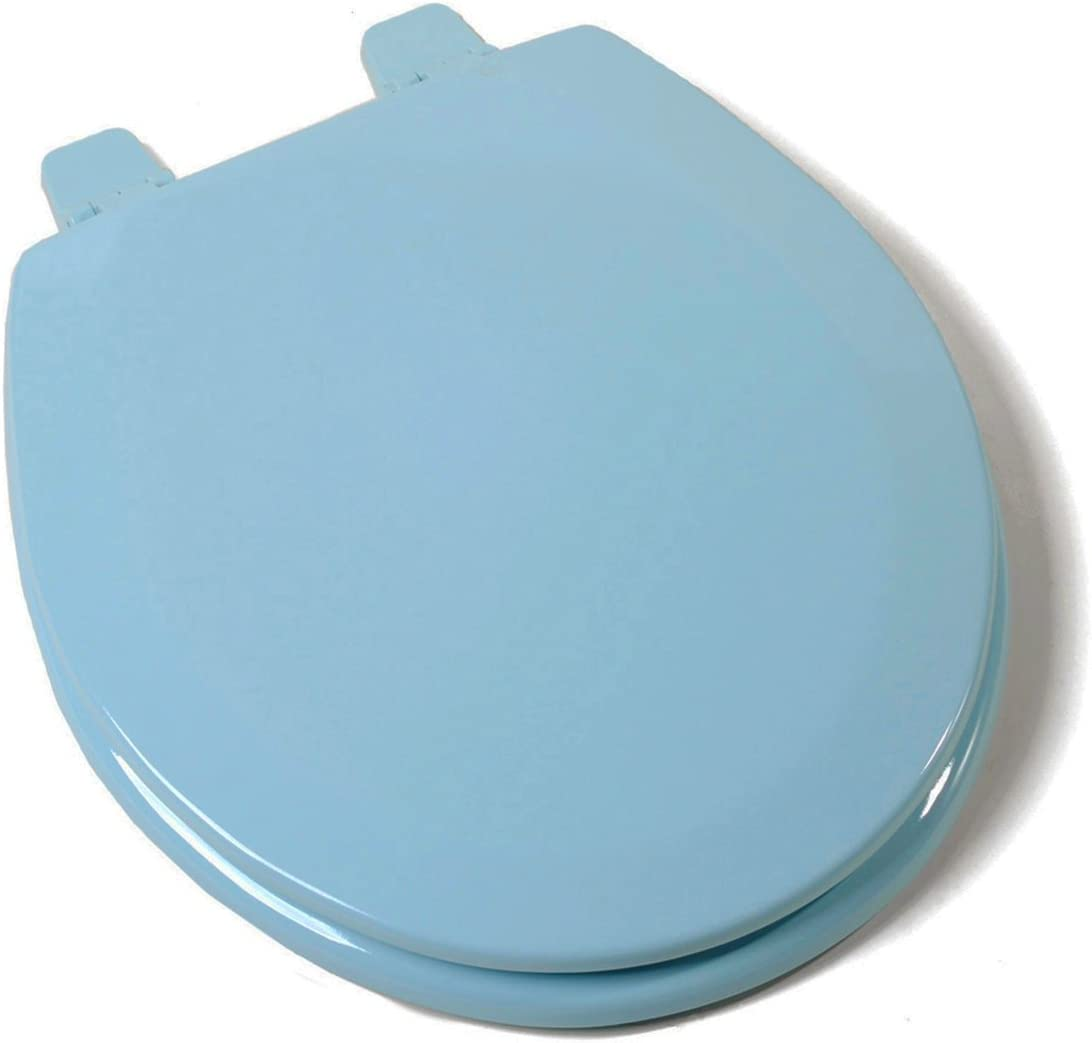 Toilet Seat De Luxe White//Blue