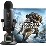 Yeti Blackout USB Microphone Bundle Including Tom Clancy's Ghost Recon Breakpoint PC Digital Standard Version