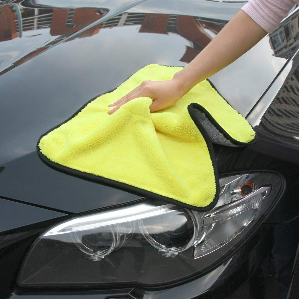 DEBBD Car Cleaning Cloths Ultra Thick Plush Dry Cloths Super Absorbent Car Wash Cloths Scratch-Free
