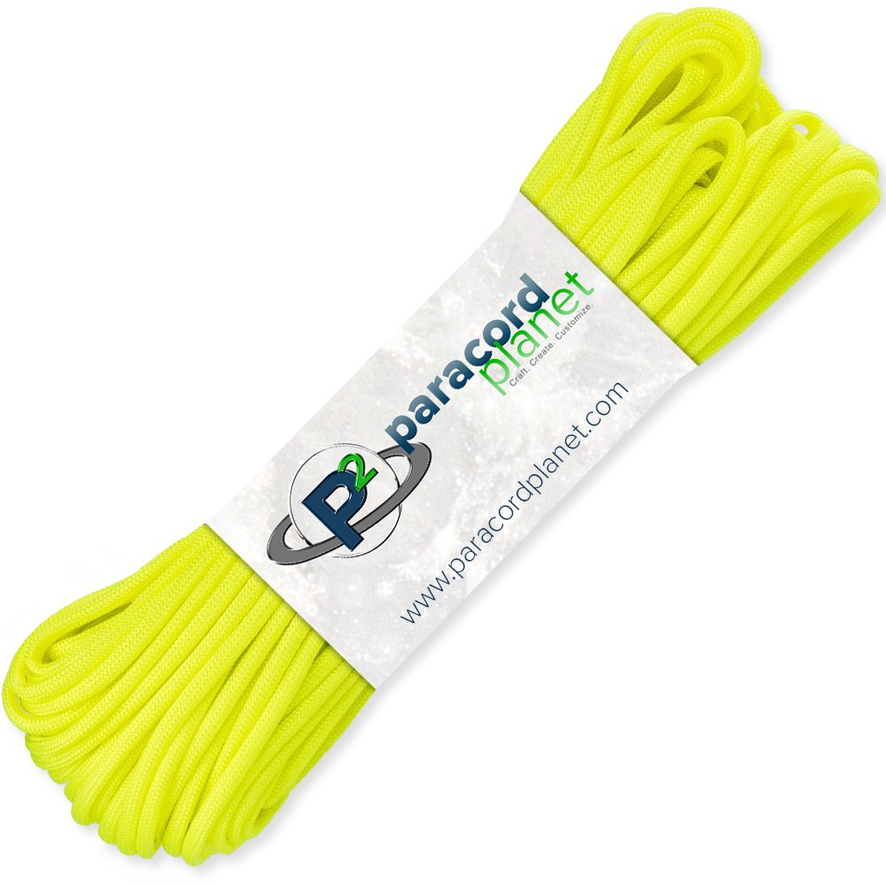 PARACORD PLANET 1000' Feet of Type III 550 Paracord - Neon Yellow by PARACORD PLANET