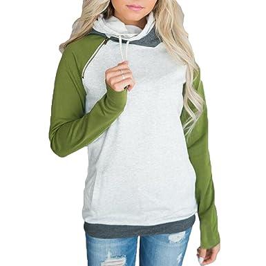 Hibote Femmes Mode Pulls à Capuche Sweat-Shirt Automne Hiver De Style  Manches Longues Sweats 6e1e6dd3c7df