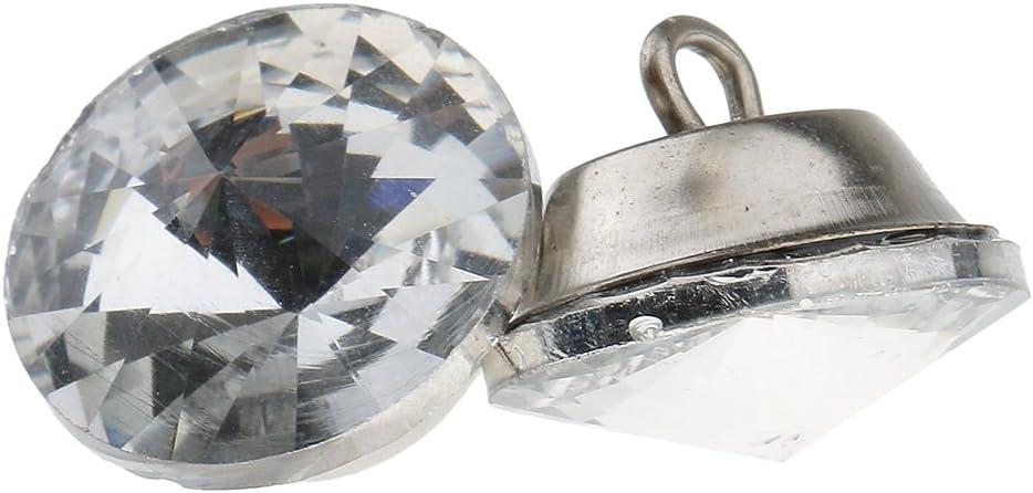 Gazechimp 25 Pedazos Botones de Cristal de Tapicer/ía Adornos de Bircolaje de Cabecera de Sof/á Plata 18 mm