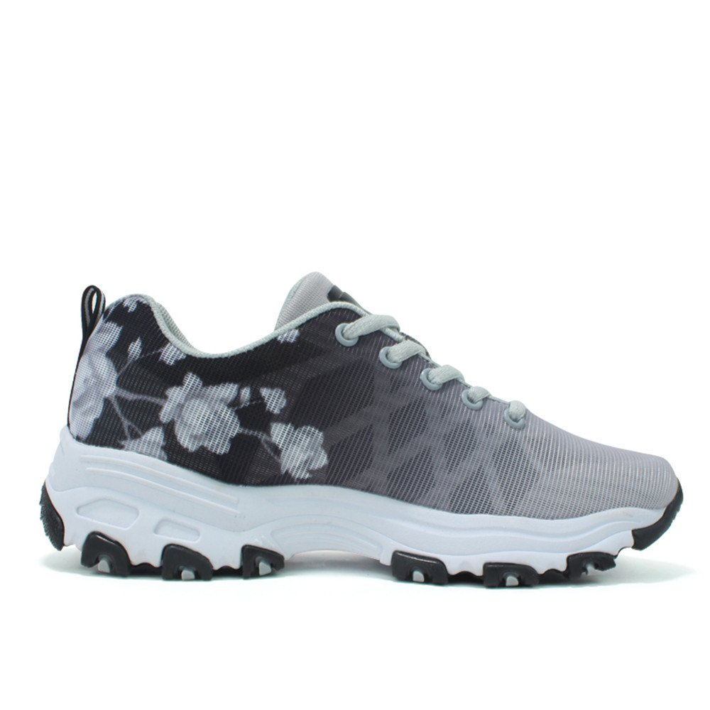 quality design b1d1d 3db46 DADAZE Mujer 2722 Flower Low-Top Trainers Mesh Gris