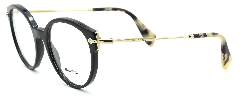 6048b76209 Amazon.com  Miu Miu 04PV Women Round Eyeglasses Prescription-Ready RX Frame  1AB 1O1