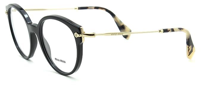 2991d51b7679 Miu Miu 04PV Women Round Eyeglasses Prescription-Ready RX Frame 1AB 1O1