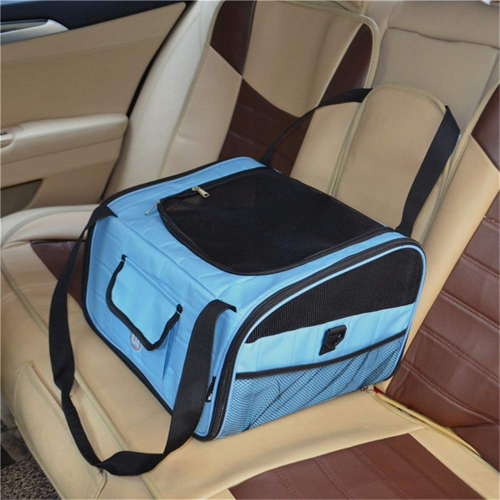 QZQWANA Pet Car Bag Out To The Dogs Bag Cat Travel Bed puppy Booster Seat Carrier Tote Foldable Car Travel Accessories