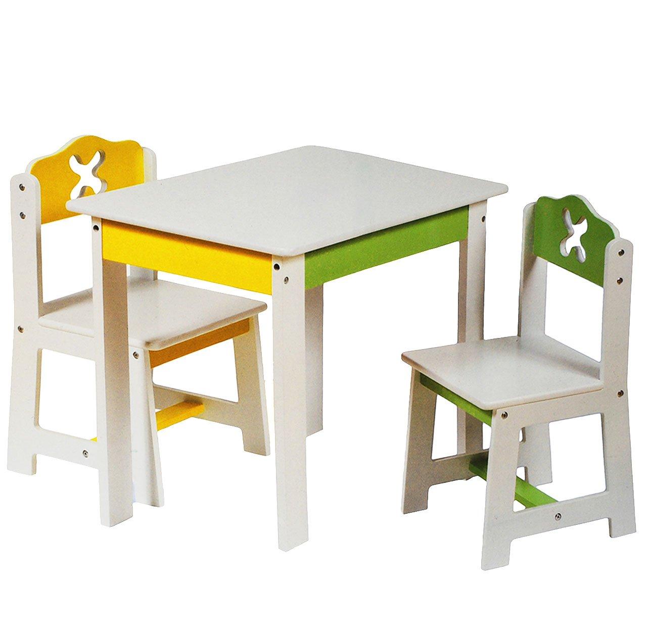 3 tlg. Set: Sitzgruppe für Kinder - aus sehr stabilen Holz - weiß ...