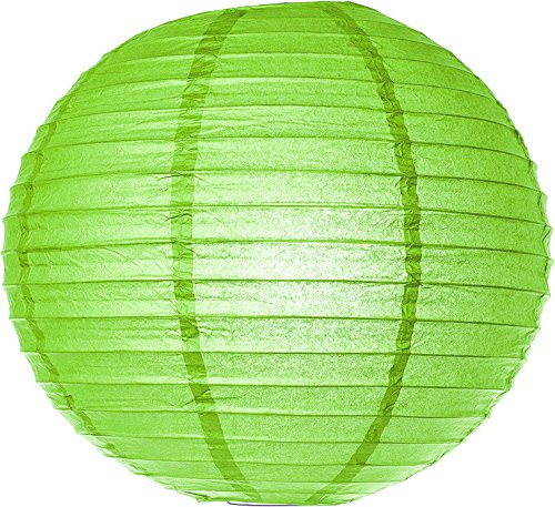Luna-Bazaar-Paper-Lantern-18-Inch-Parallel-Style-Ribbed-Green-Rice-Paper-ChineseJapanese-Hanging-Decoration-For-Home-Decor-Parties-and-Weddings