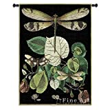 Fine Art Tapestries ''Whimsical Dragonfly II'' Wall Tapestry