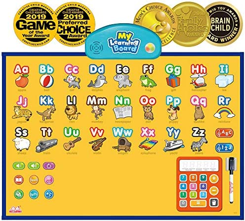 BEST LEARNING i-Poster My Learning Board – Electronic Interactive Educational Talking Alphabet Numbers Music Poster Toy for Kids Boys & Girls 2 3 4 5 6 Years Old Daycare Preschool