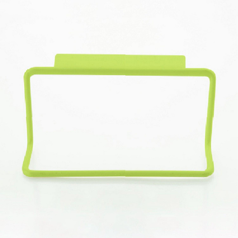 Nrpfell 1Pc Kitchen Organizer Towel Rack Hanging Holder Bathroom Cabinet Cupboard Hanger Shelf for Kitchen Supplies Accessories(Green)