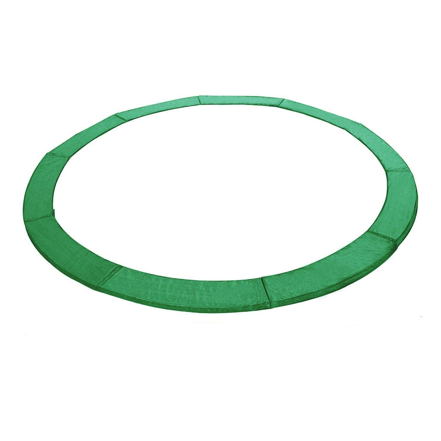 Exacme Trampoline Replacement Safety Spring Cover Round Frame Pad without Holes(Green, 15 Foot) by Exacme
