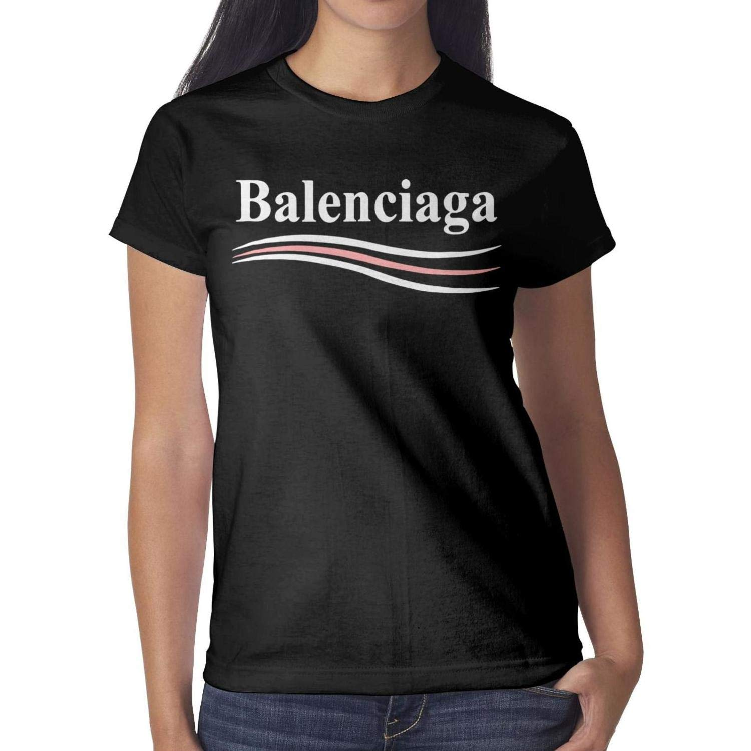 732934b3 ShaLAFUGUI Loose-Fit Women's T Shirt Cable Gift for Balenciaga T-Shirt  Assorted at Amazon Women's Clothing store: