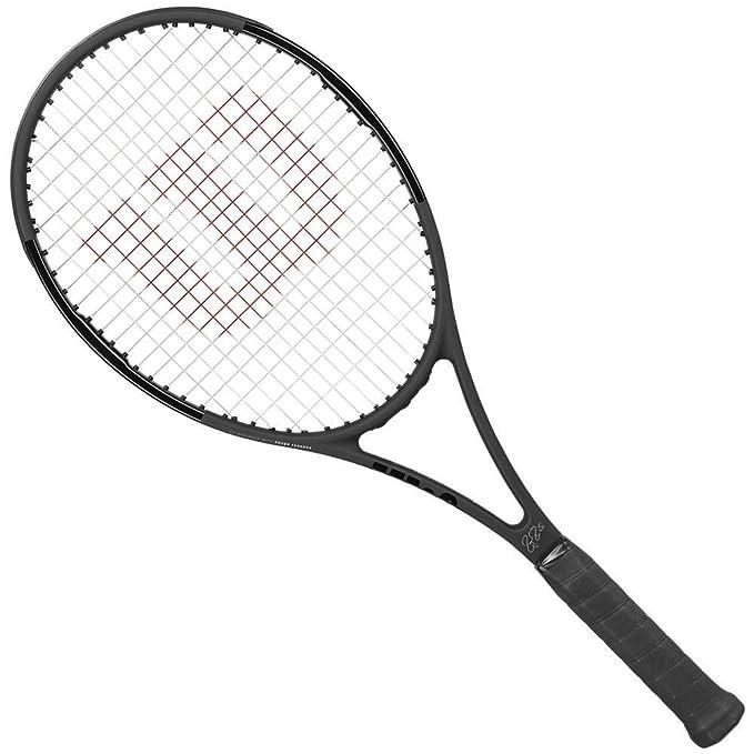Amazon.com : Wilson Pro Staff RF97 Roger Federer Autograph Matte Black Tennis Racquet (4 3/8