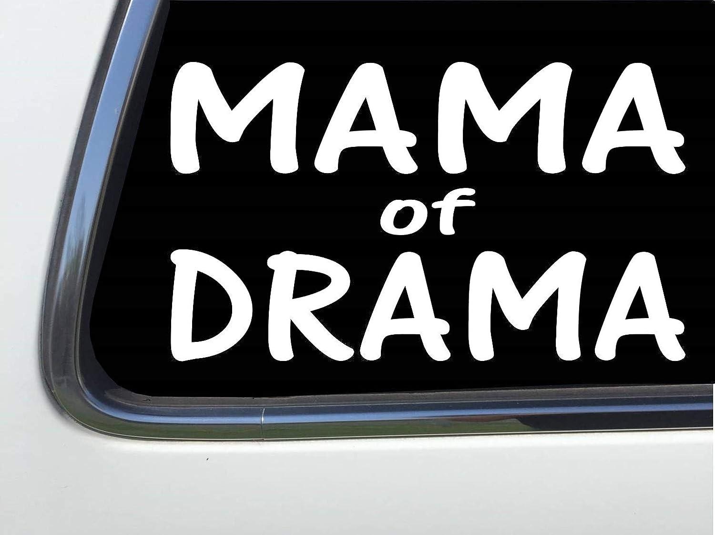 Thatlilcabin Mama of Drama 6 vinyl car decal sticker HM1792
